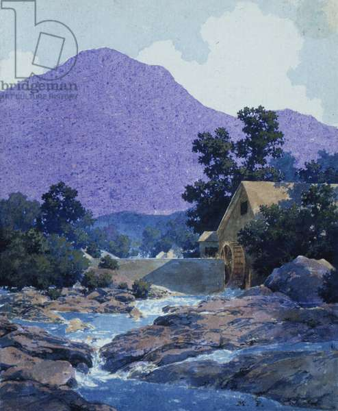Study for Thy Rocks and Rills, 1942 (w/c on illustration board)