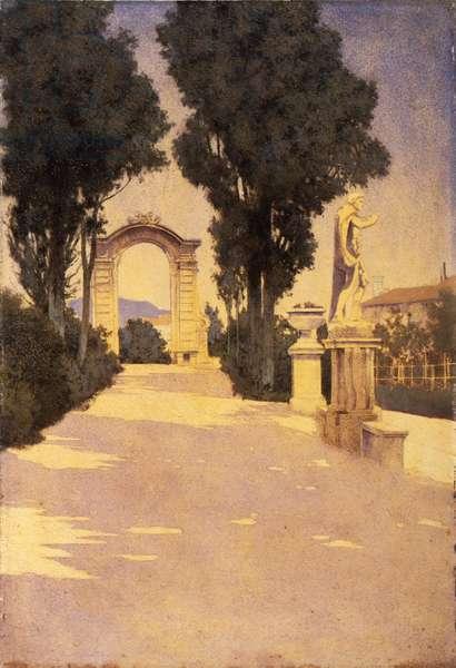 Villa Scassi, Genoa, 1903 (oil on paper)