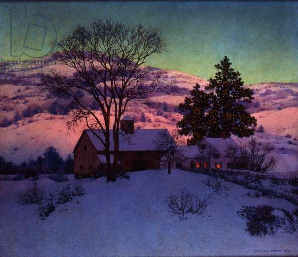 Afterglow, A New Day, 1947 (oil on panel)