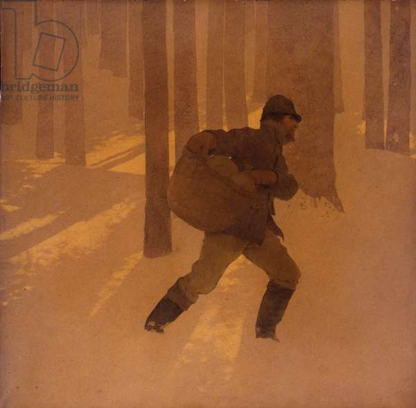 Winter, 1906 (oil on paper mounted on board)