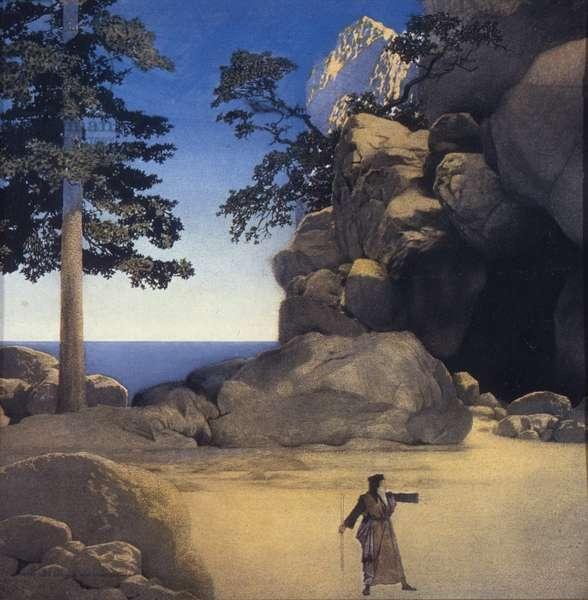 The Tempest: Prospero in Golden Sands, 1909 (oil on panel)