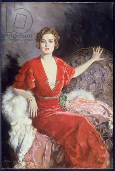 Portrait of Mrs. Austin (oil on canvas)