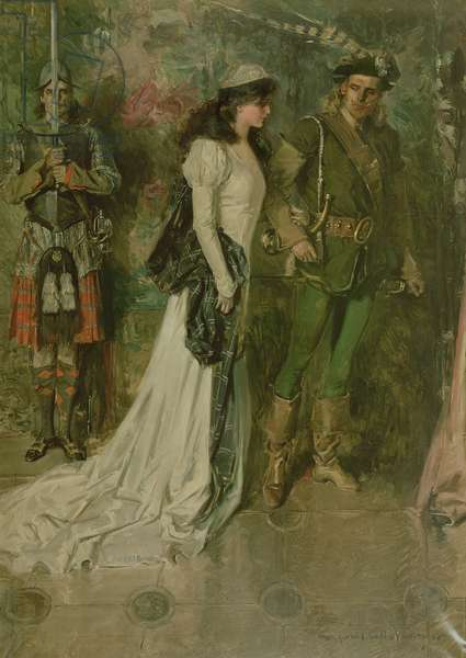 Lady of the Lake (Rob Roy and Lady McGregor), 1910 (oil on canvas)