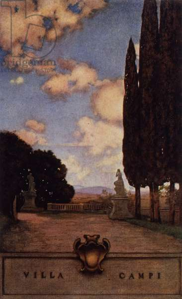 Villa Campi, near Florence, 1903 (colour litho)