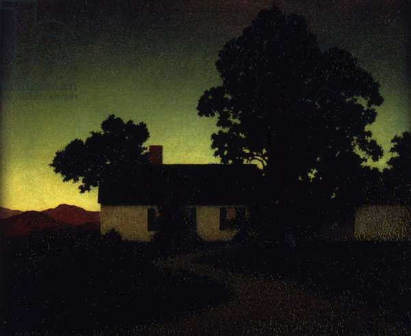 Evening - Twilight, 1927 (oil on panel)