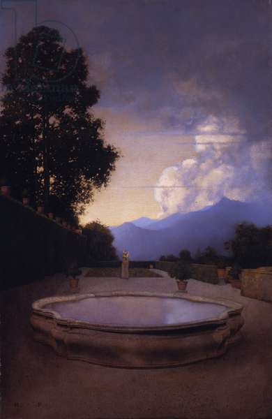 The Lower Terrace at Villa Cicogna, Bisuschio, c.1903 (oil on paper)
