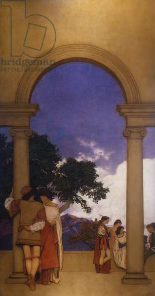 Florentine Fete, An Arch Encounter, 1912 (oil)