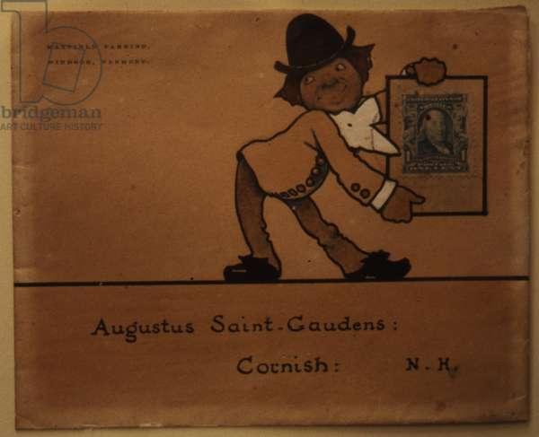 Memento for Augustus Saint-Gaudens, 1902 (pen & ink on envelope)