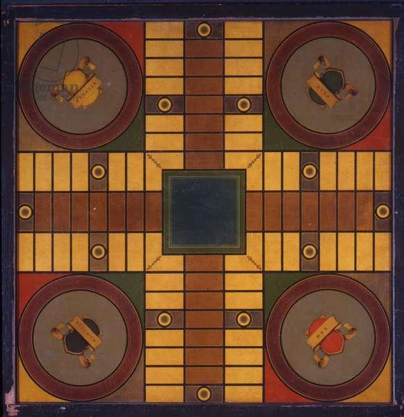 Parcheesi Game Board, c.1913-20 (oil on board)