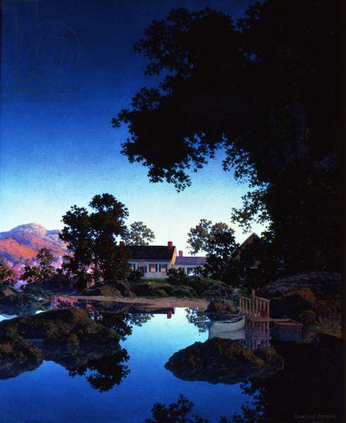 Peace of Evening, or Evening Shadows, 1950 (oil on panel)