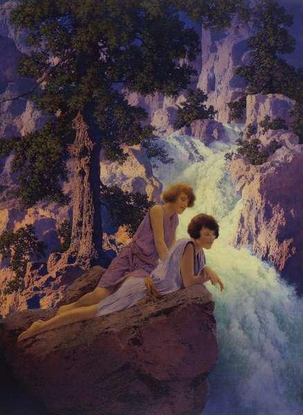 Waterfall, 1930 (oil on panel)