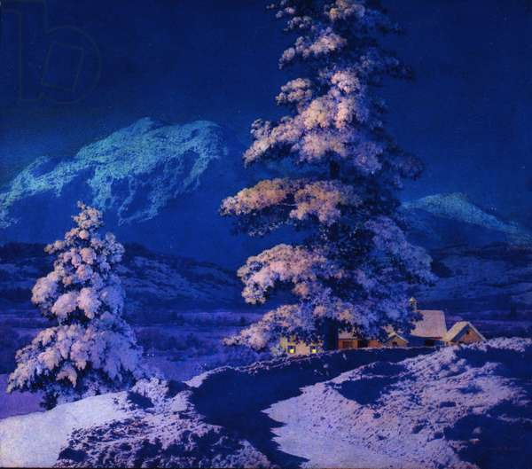 Moonlight - Deep Snow, 1944 (oil on panel)