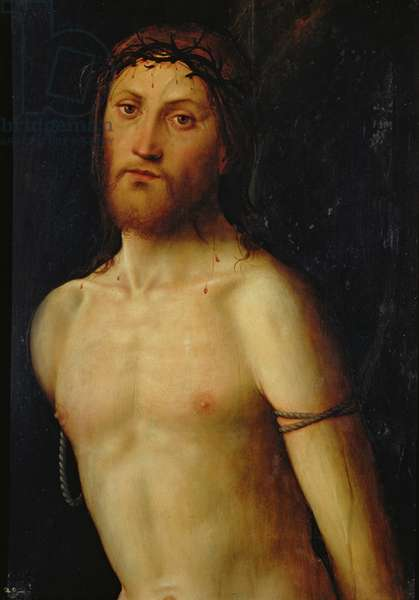 Christ Tied to the Column (oil on panel)