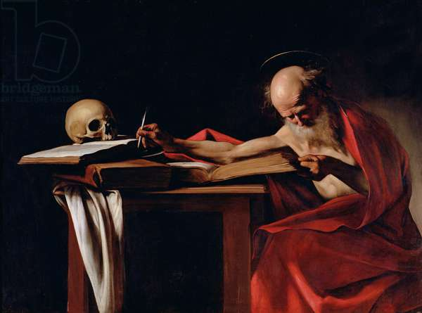 St Jerome Writing, c.1605 (oil on canvas)
