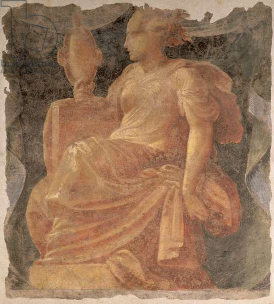 Prudence, one of the four Cardinal Virtues (fresco)