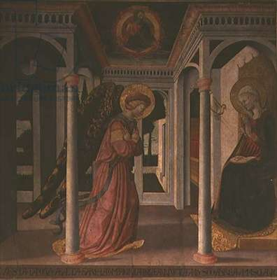 The Annunciation (tempera on panel)