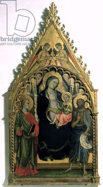 Madonna and Child with St. Philip and St. John the Baptist (tempera on panel)