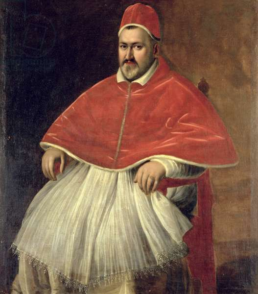Portrait of Pope Paul V (1552-1621) (oil on canvas)