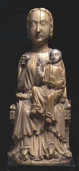 Virgin and Child, statuette, Italian School, late 12th century (ivory)