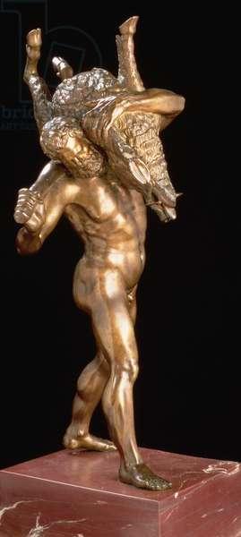 Hercules and the Erymanthian Boar (gilt bronze)