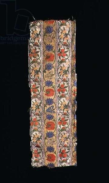 Strip of lampas brocade
