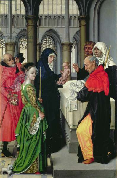 Presentation in the Temple, left hand panel of a diptych