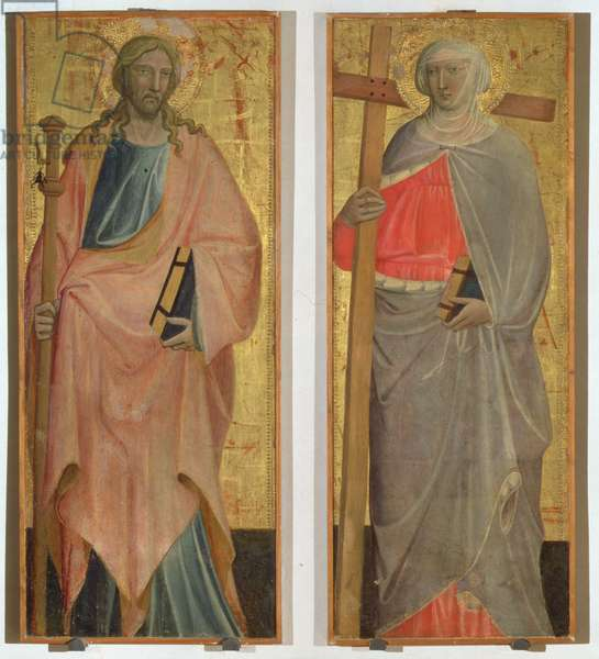 St. James and St. Helena (tempera on panels)