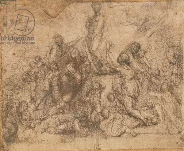 The Adoration of Venus (chalk on paper)