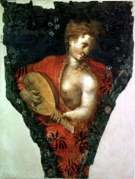 Musical figure (fresco)