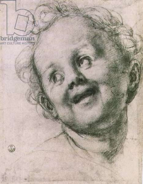 Study of a putto for the 'Holy Family with Saints' (Pucci altarpiece) in the Church of San Michele Visdomini (San Michelino), Florence, c.1518 (chalk)