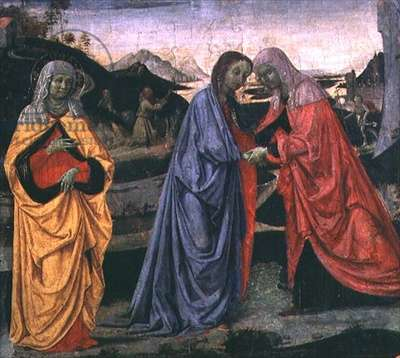 The Visitation (tempera on panel)