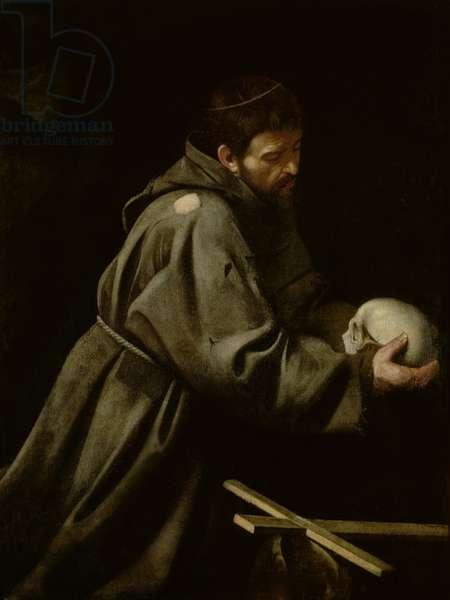 Saint Francis in Meditation (oil on canvas)