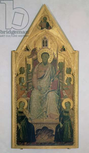 St. Bartholomew enthroned with Angels (tempera on panel)