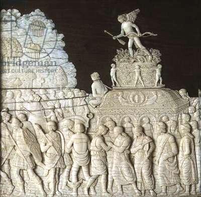The Triumph of Love, decorative panel from a casket, Italian, School of Mantua (ivory)