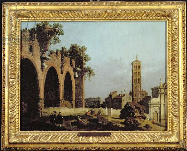 The Basilica of Massenlio (oil on canvas)