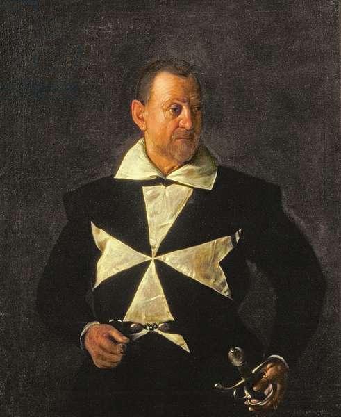 Portrait of a Knight of Malta, possibly Fra Antonio Martelli, 1607-08 (oil on canvas)