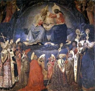 Coronation of the Virgin (tempera on panel)