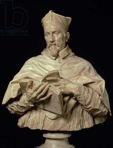 Bust of Cardinal P.S. Zacchia Rondanini (marble)