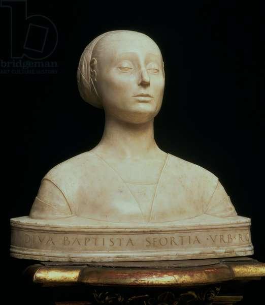 Bust of Battista Sforza, Duchess of Urbino, c.1473 (marble)
