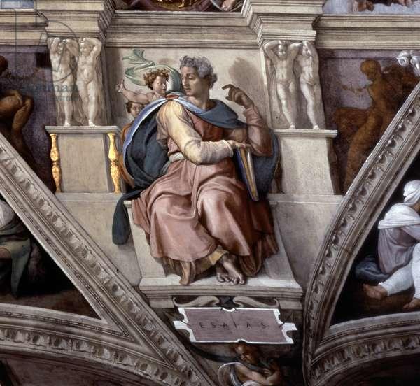 The Prophet Isaiah, Sistene Chapel Ceiling (fresco)