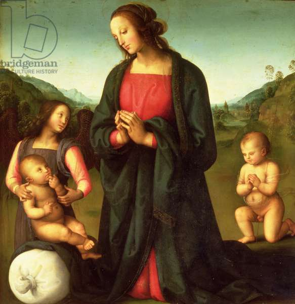 Madonna Adoring the Christ Child (Madonna del Sacco)