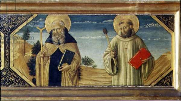 St. Anthony Abbot and St. Benedict (panel) (detail of 78957)