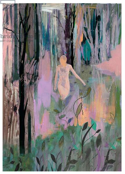 Strange Eden, 2017, (Mixed Media on Wood Panel)
