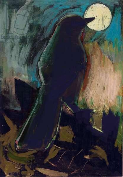 Mockingbird, 2016, (Mixed Media on Wood panel)