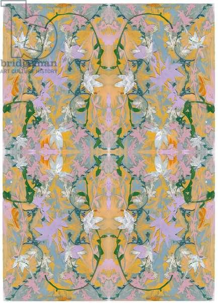 Botanical Collage # 4, 2017, (Mixed Media on Wood Panel)