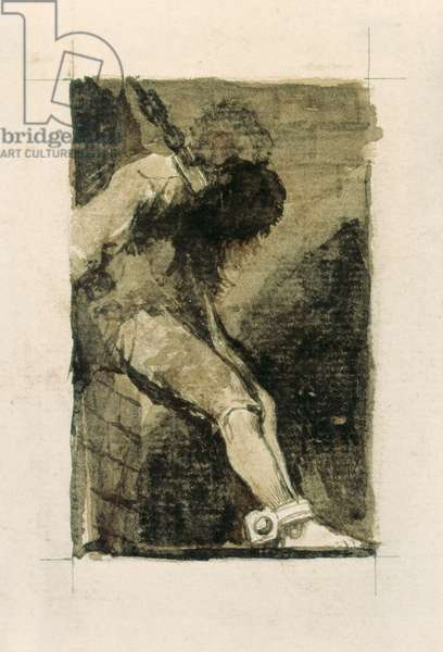 Si es delincuente que muera presto (If he is a criminal he should die soon), 1810s (etching and aquatint)