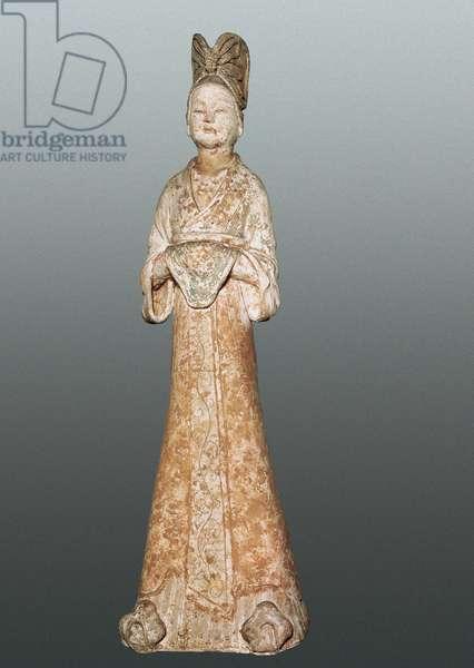 Female ceramic statuette, 618-907 From China.