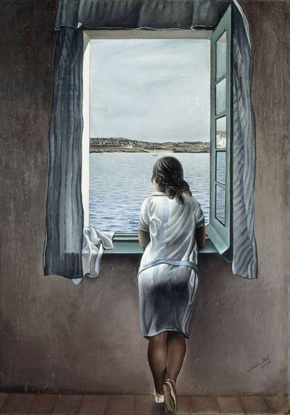 Woman at the Window, 1925 (oil on panel)