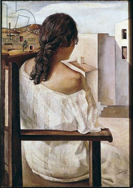 Seated Girl Seen from the Back, 1927 (oil on canvas)