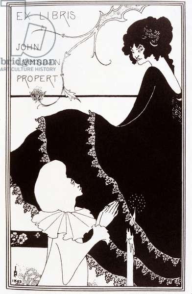 Ex-Libris by John Lumsden Propert, 1894 (lithograph)
